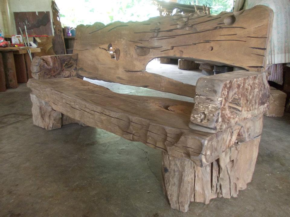 Wood Bench From The River
