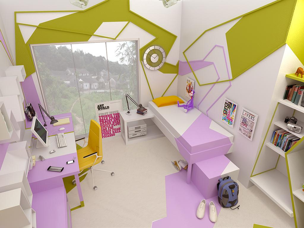 A teenage room by gemelli design for Jugendzimmer modern design