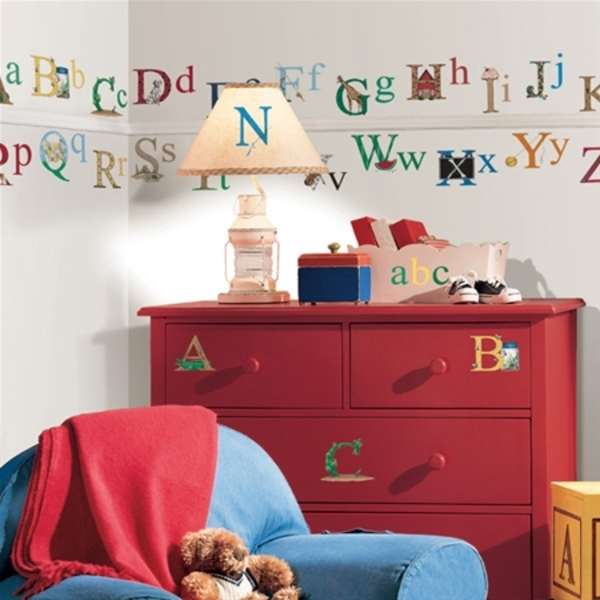 Stunning ABC. Decorative Stickers for Kids\' Bedroom