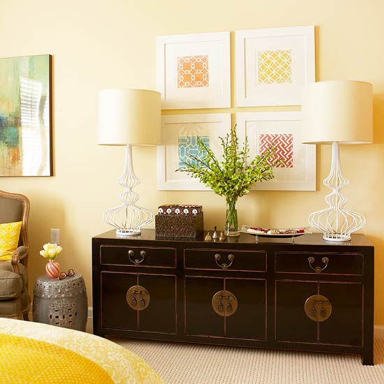 bright and sunny bedroom makeover