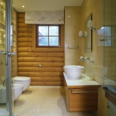 Stylish-Adorable-Stunning-Contemporary-Bathroom-Design-Idea-With-Wooden-Log-Accent-on-Wall-590x463