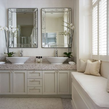 White-bathroom-with-built-in-storage-and-window-seat