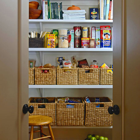 Vast Open Shelves To Hide With Closet Type Of Doors Give You