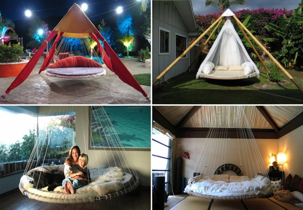 Floating Outdoor Bed floating beds for room and garden…a swinging joy!!