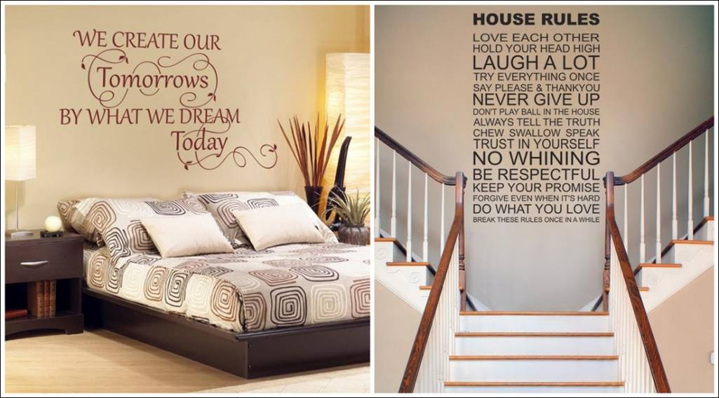 Wondrous Wall Art The First Quote Sticker Comes With A Variety Of 22  Colors. It Costs You From £9.99.It Will Look Great In Your Bedroom.