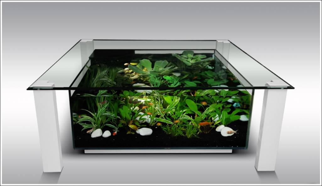 Fish Tank Tables...They Hold Alive Tranquility!