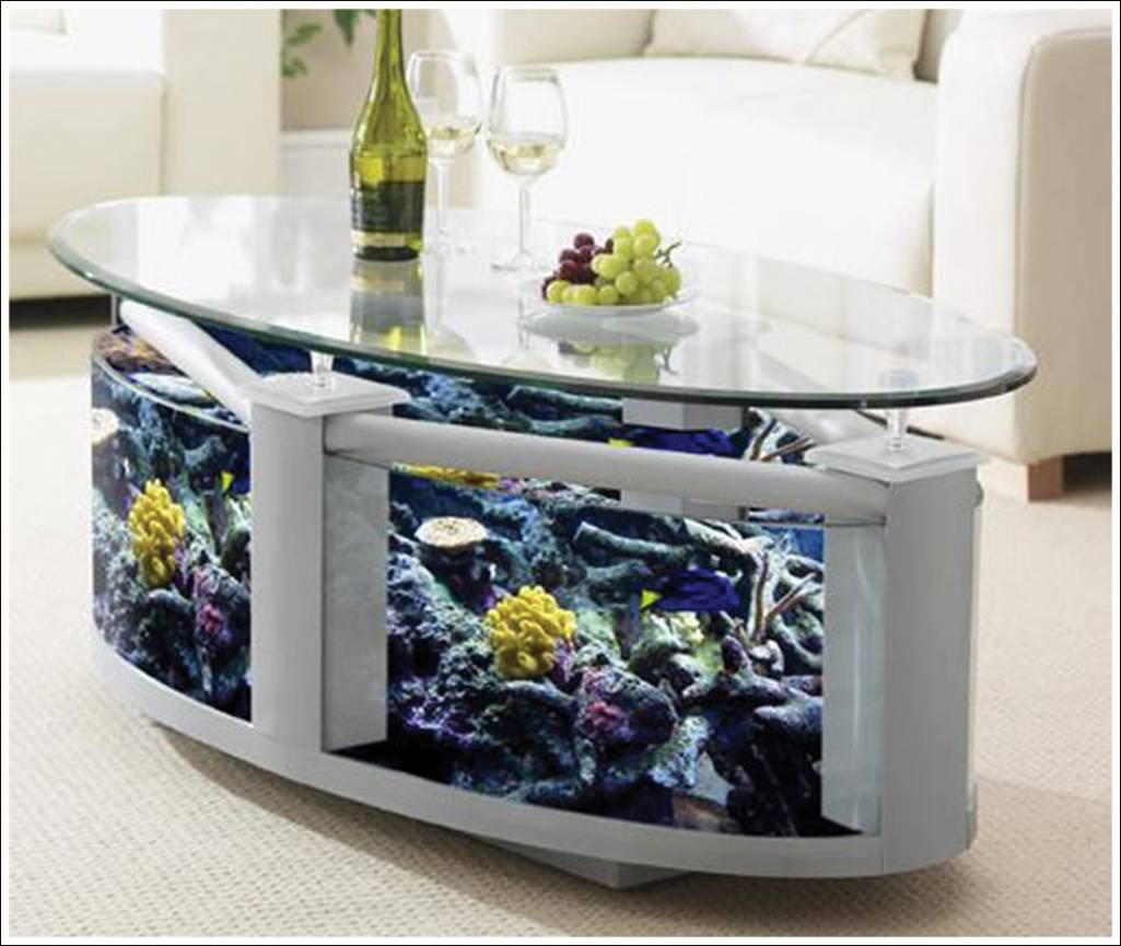 fish tank tables they hold alive tranquility. Black Bedroom Furniture Sets. Home Design Ideas