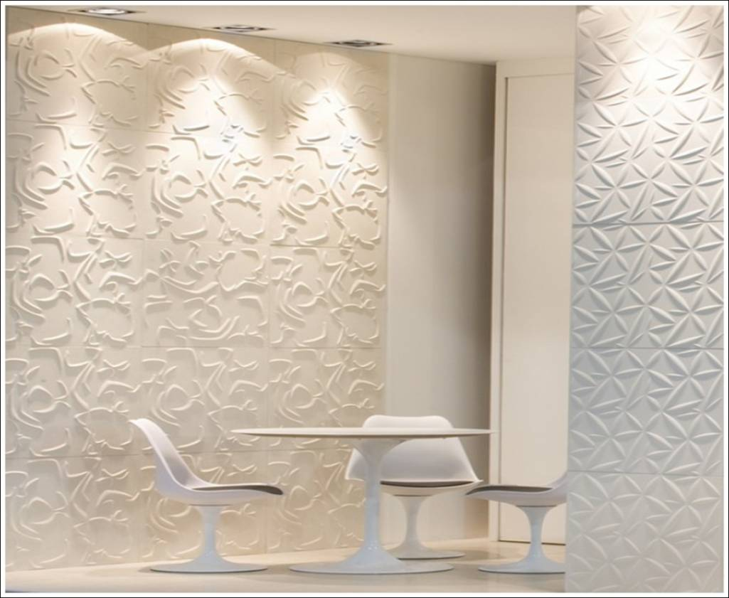 3d wall tiles a new dimension of wall d cor - Fancy wall designs ...