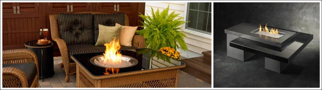 The First Table Is Known As Naples Gas Fire Table. This Table Will Light Up  The Ambience Of Your House Whether Indoor Or Outdoor.