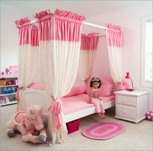 Diy Extra Long Curtains Girls Bed with Canopy