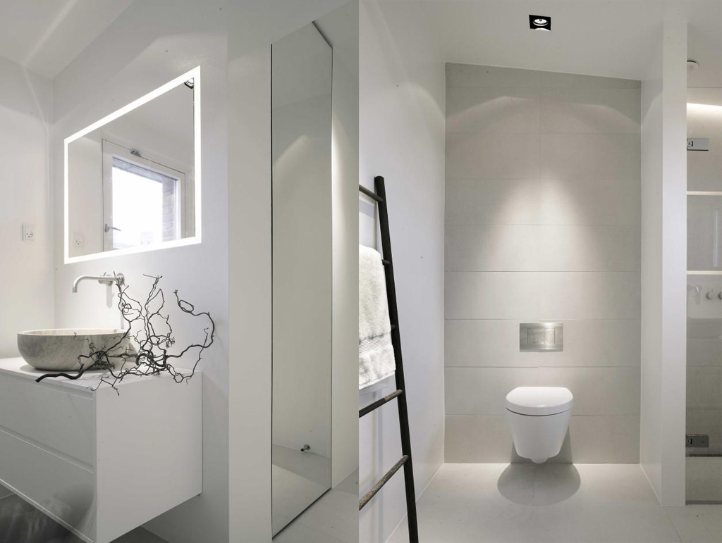 White whiter whitest for Modern interior bathroom