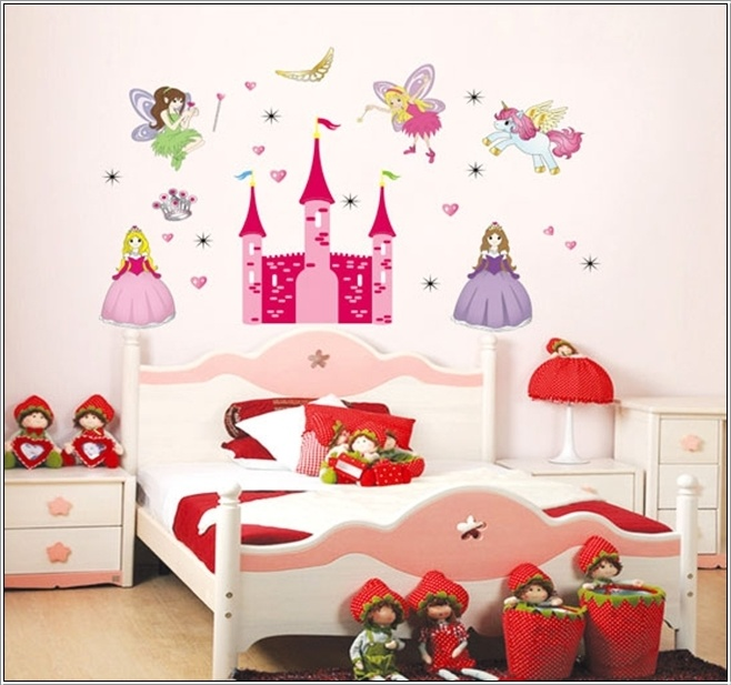 princess themed wall stickers for little girls!