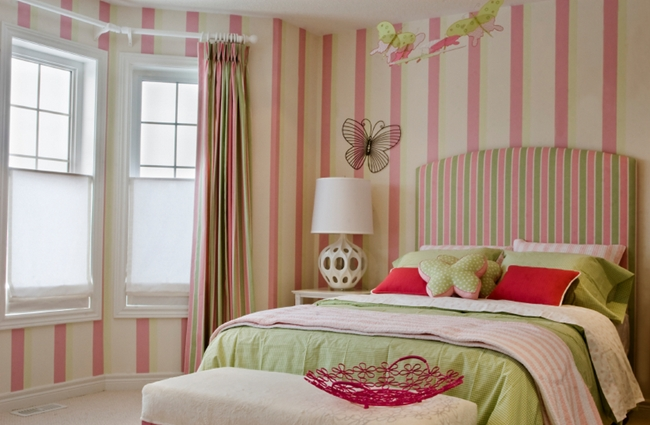 spice up your bedroom with stripes