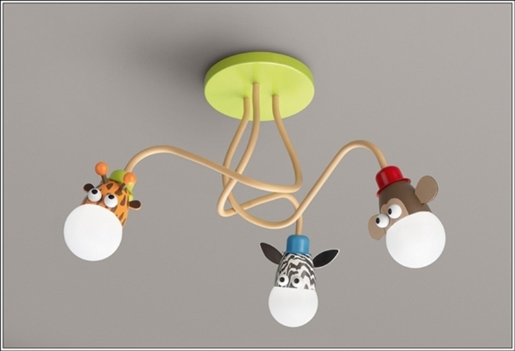 Via philips luminaries 3 philips this is just a sweetie pie chandelier with animal faced bulbs now light up your juniors room with this simple yet an
