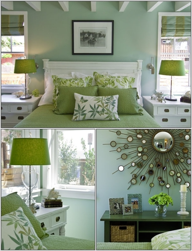 Serene green bedrooms Green colour bedroom