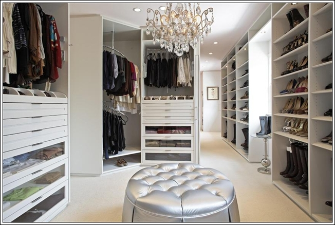 This Closet Is All What We Call Glamour. It Has A Dazzling White Outlook  With Numerous Shelves. This Closet Has Carousels At The Corner For ...