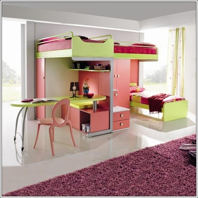 girls loft bed with desk car tuning