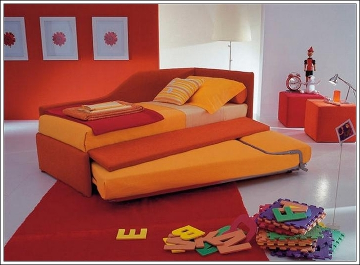 This Bed Called As U0027Joy Storage Bedu0027 By Its Designer Company Is Indeed A  Joy. This Bed Is With Sunny Colours Red And Orange.The Trundle Bed ... Ideas