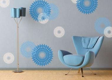 Modern-Blue-Circular-Design-Wall-Decals-Ideas