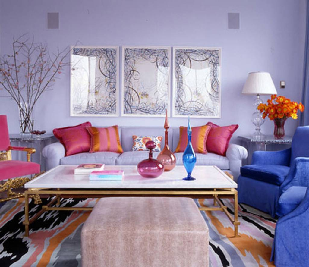 Colorful Living Room Style: Amazing Interior Design Pic1