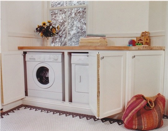 White Wood Washing Machine Cabinet By Rodex