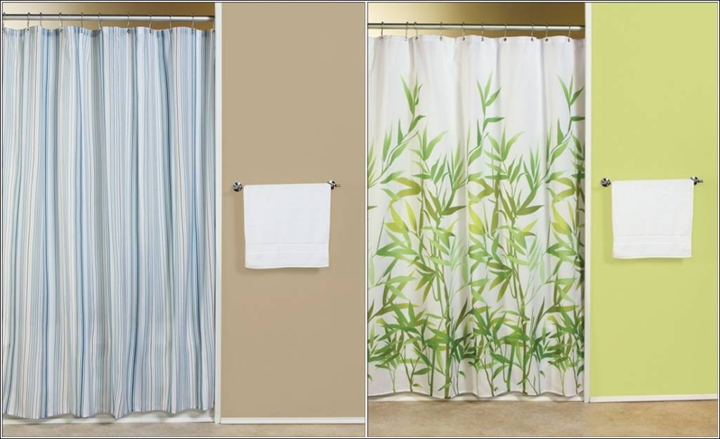 grey white striped shower curtain.  Classy Shower Curtains For Your Bathroom