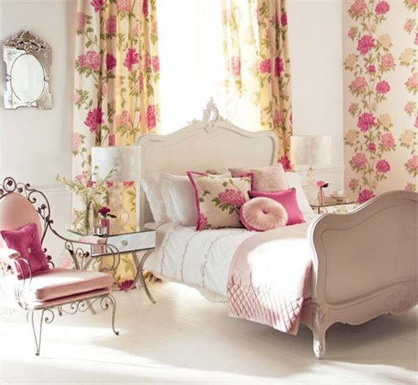 Feminine bedroom design ideas natural interior design for Room decor romantic