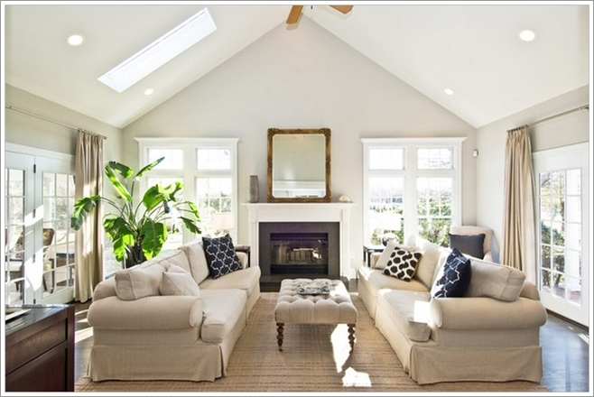Brighten Up Your Living Room With A Skylight In Ceiling