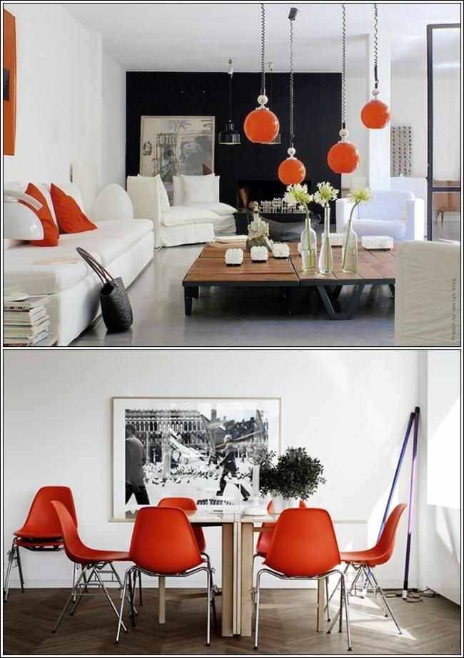Orange White And Black Interior