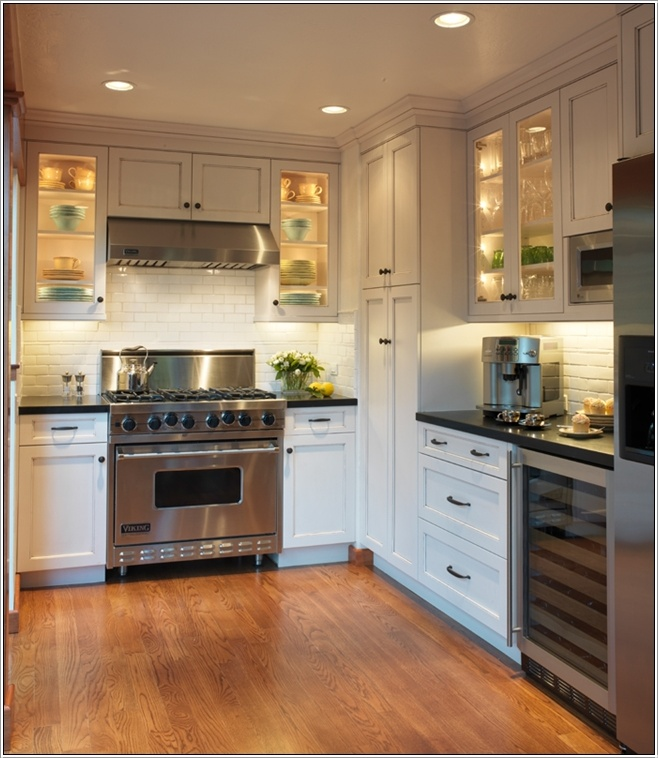 Beautiful Efficient Small Kitchens: Under Cabinet Lighting For A Magical Touch In Your Kitchen
