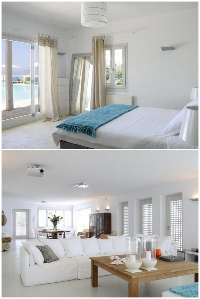 Delightful Via: Luxurious House Design 7. Luxurious House Design The First Picture  Shows A Room That Has All White Hues With Addition Of Neutral Curtains, ...
