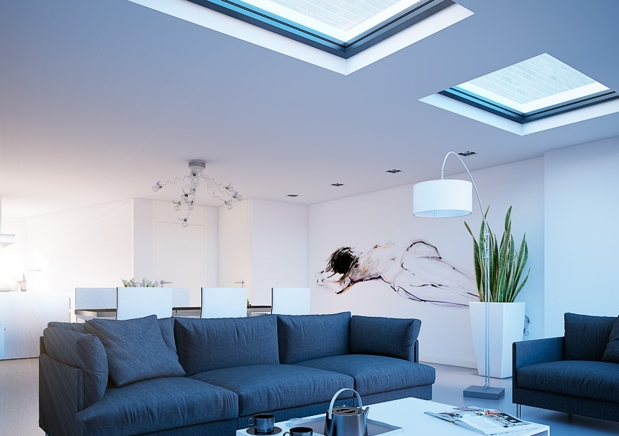 Brighten up your living room with a skylight in ceiling - Maximizing design of living room by determining its needs ...