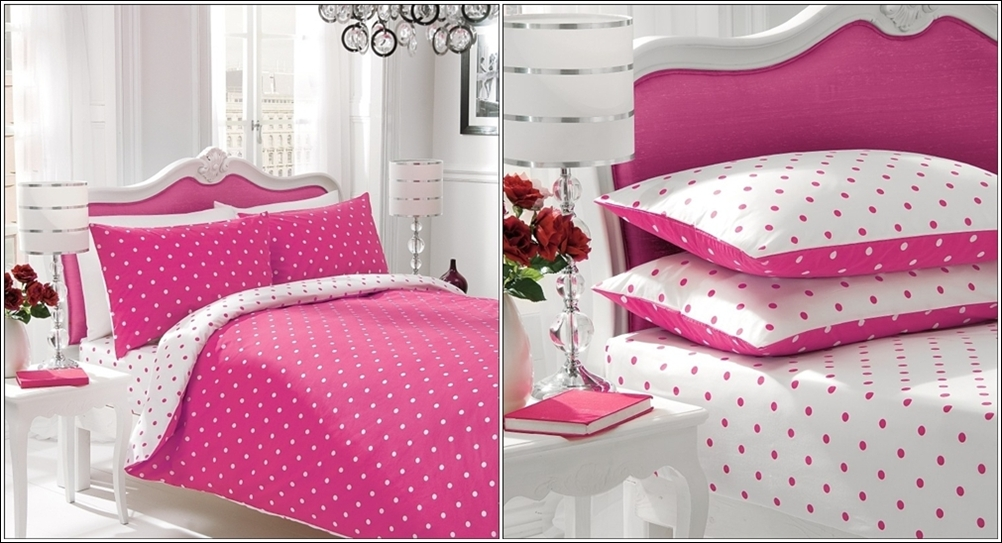 Amazing interior design bedding sets with large and small dots
