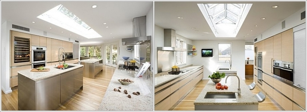So Many Ways To Go Green Even The Kitchen Island: Double Island Kitchens...More Space, More Fun