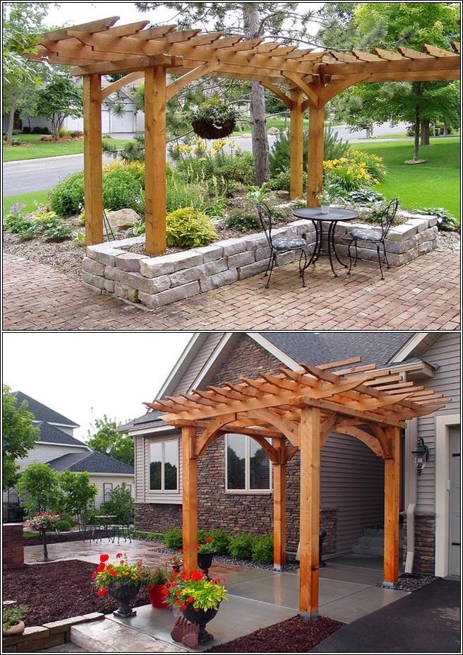 Enhance the beauty of your garden or patio with a pergola - Outdoor patio design ideas ...