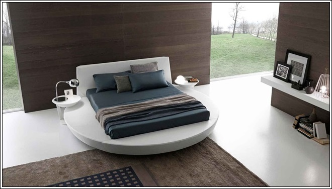 this bed has a two in one feature that is it has a mattress in square shape where as the platform is in round shape and for this