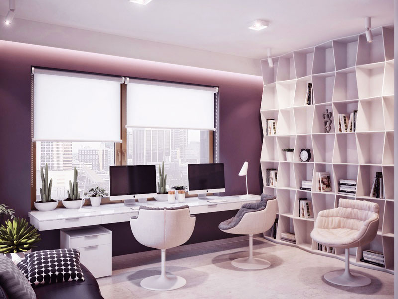 Modern-Fresh-Home-Office-with-Double-iMac-Monitor