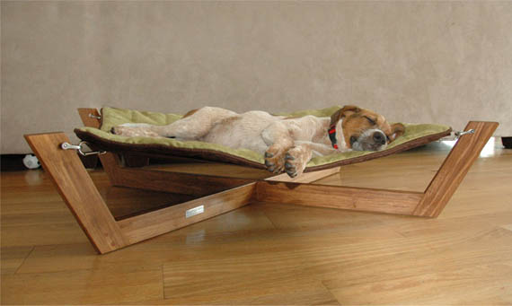 Bambu Pet Hammock eco friendly modern luxury pet furniture. Comfortable place for your furry friend  Dog Furniture ideas