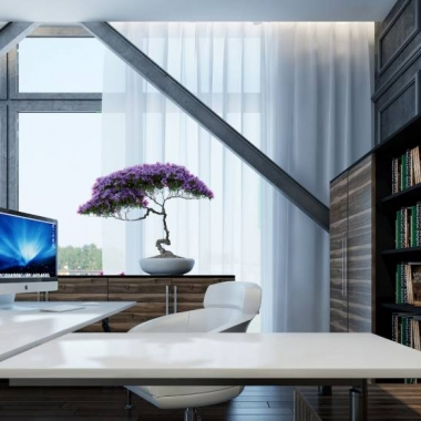 iMac-in-Elegant-White-Home-Office-Desk-and-Couch-with-Minimalist-Timber-Storage