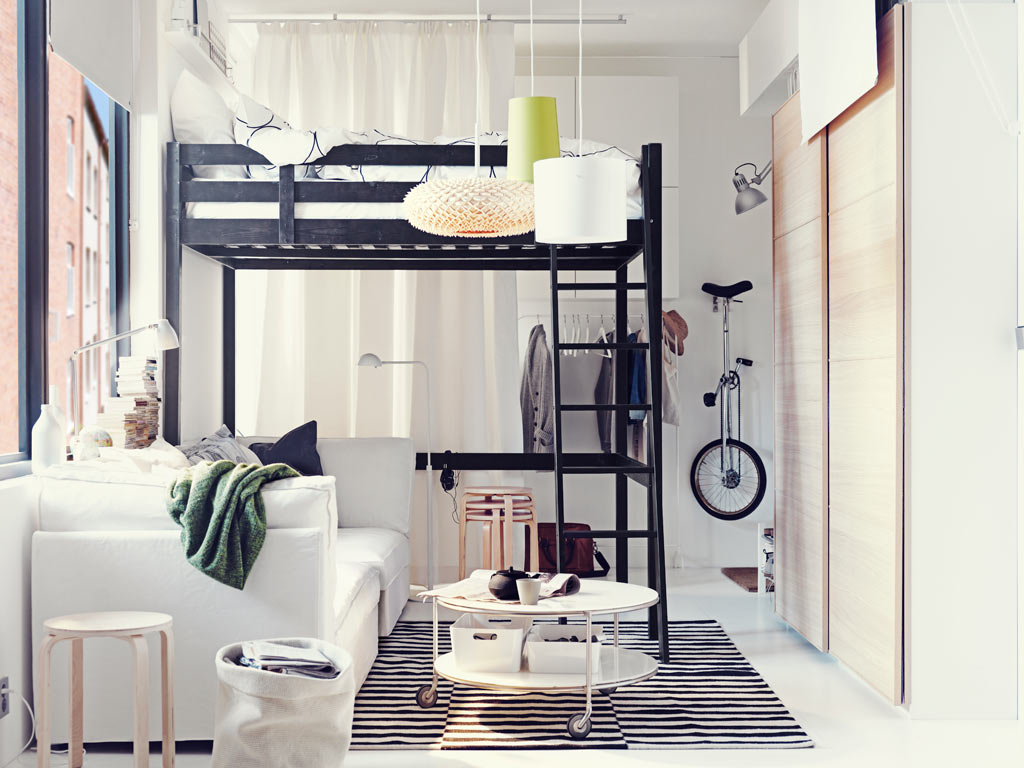 Ikea ideas for small appartments Small loft apartment design