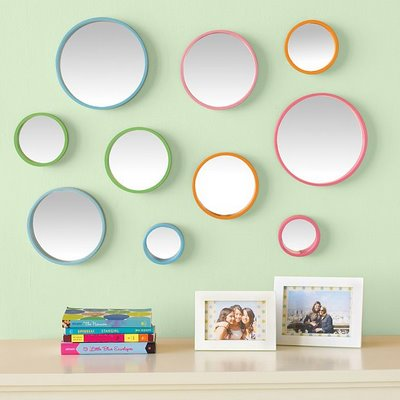 pb teen bubble dot mirror set