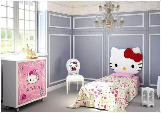 Turn Your Little Girls Room To A Hello Kitty World