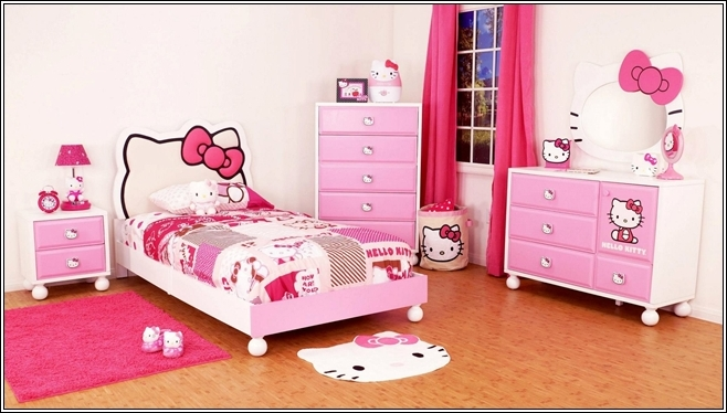 Turn Your Little Girl S Room To A Hello Kitty World