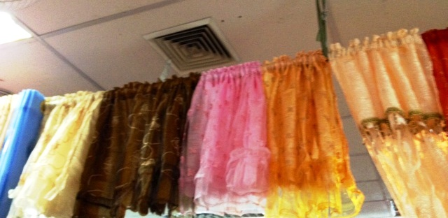 Mini curtains are ideal for door lintels