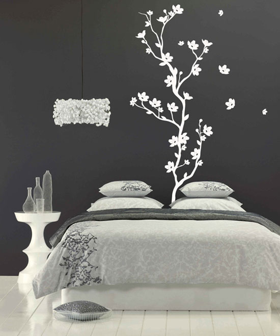 creative bedroom wall art sticker ideas