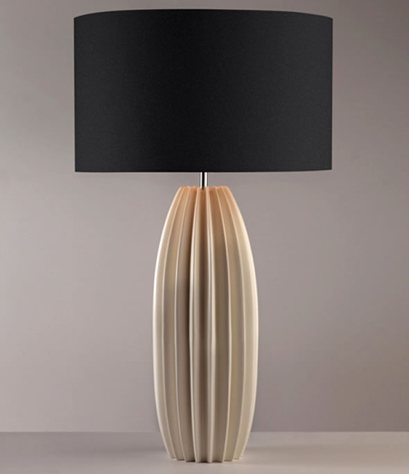 contemporary table lamps design galileo lighting natural black shade