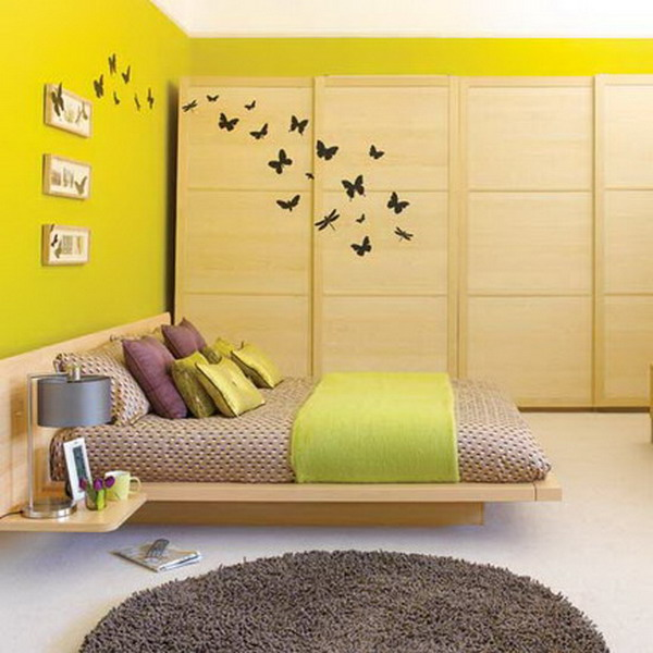 Creative bedroom wall art sticker ideas for Bedroom wall decals