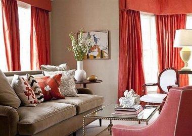 Fresh-Orange-Curtains-Ideas-for-Living-Room-and-Sofa