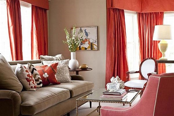 Great Fresh Orange Curtains Fresh Orange Curtains Ideas For Living Room And
