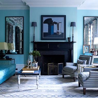 Ocean-blue-living-room